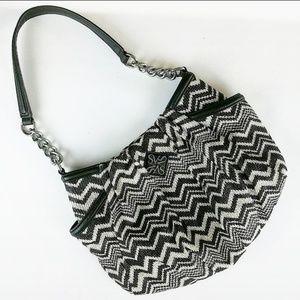 Simply Vera Wang Chevron Pattern Satchel Bag